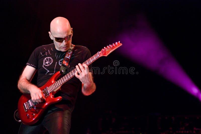Joe Satriani no concerto fotografia de stock royalty free