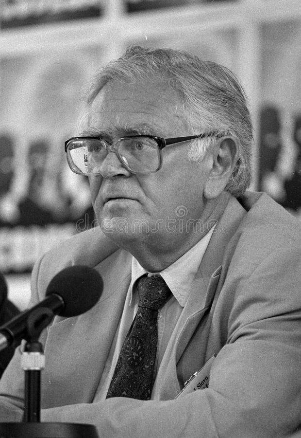 Joe Slovo. SOUTH AFRICA Johannesburg -- 21 Dec 1991 -- SACP politican Joe Slovo at the CODESA meeting at Kempton Park in Johannesburg South Africa -- Picture by royalty free stock photography