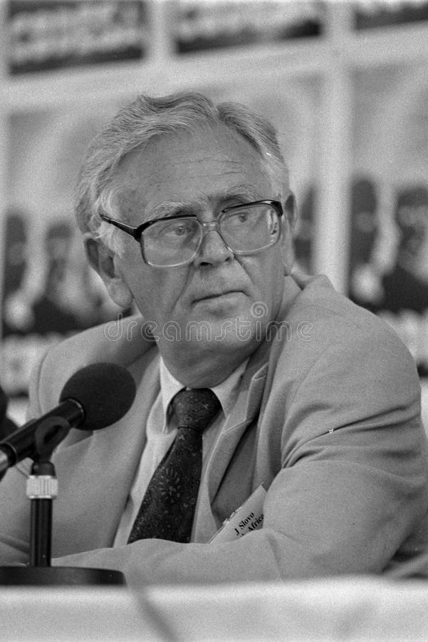 Joe Slovo. SOUTH AFRICA Johannesburg -- 21 Dec 1991 -- SACP politican Joe Slovo at the CODESA meeting at Kempton Park in Johannesburg South Africa -- Picture by stock photo