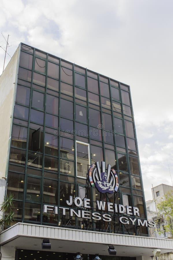 Joe Weider Fitness Gym royaltyfri bild