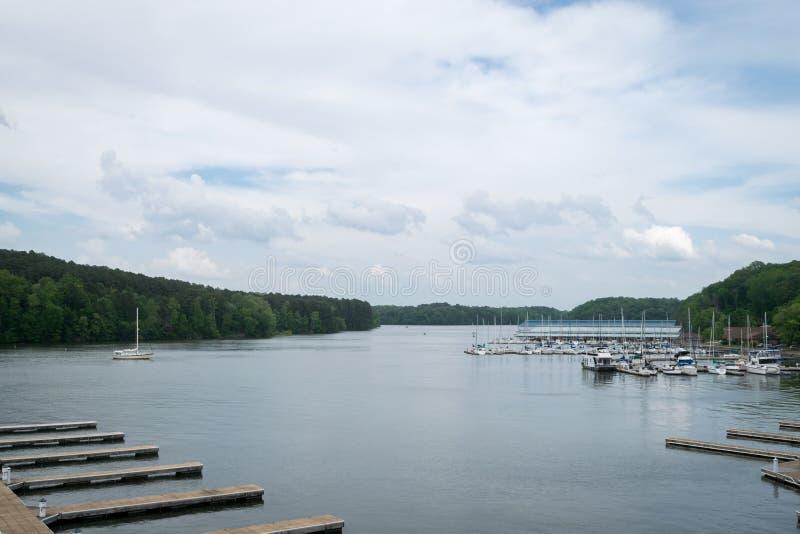 Joe Wheeler State Park Marina y visión imagen de archivo libre de regalías