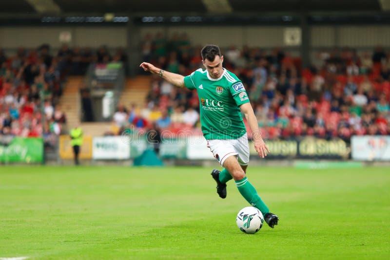 Joel Coustrain bij Liga van Eerste de Afdelingsgelijke van Ierland tussen Cork City FC versus St Patricks Atletische FC stock afbeeldingen