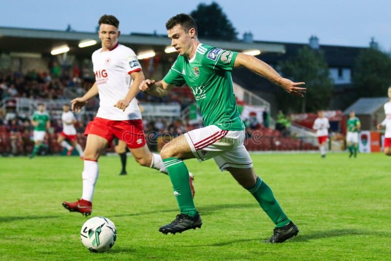 Joel Coustrain bij Liga van Eerste de Afdelingsgelijke van Ierland tussen Cork City FC versus St Patricks Atletische FC royalty-vrije stock afbeelding