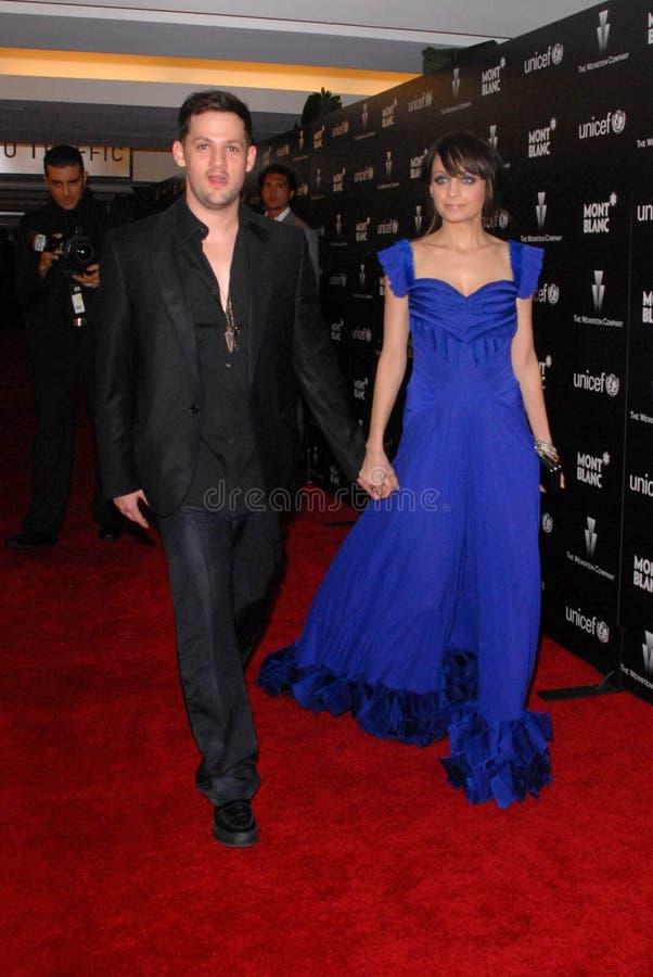 Joel Madden, Nicole Richie foto de archivo