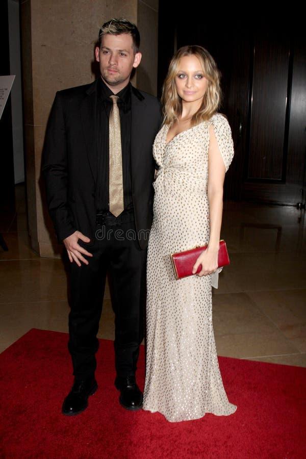 Joel Madden, Nicole Richie stock afbeeldingen