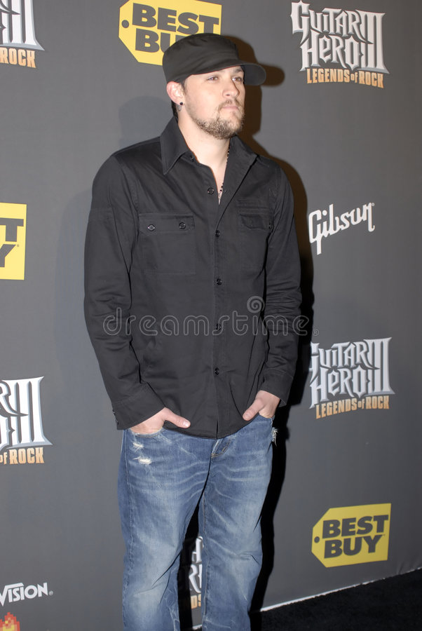 Joel Madden on the red carpet royalty free stock photos