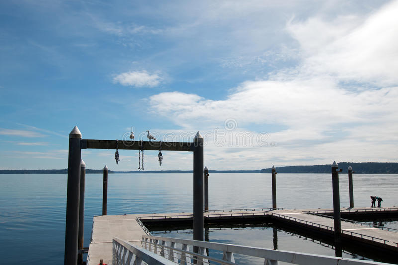 Joemma Beach State Park Boat Dock near Tacoma Washington State. USA royalty free stock photos