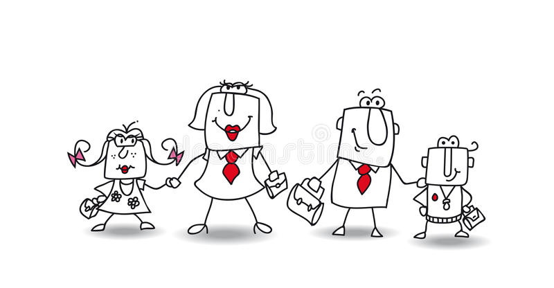 Joes Family vector illustration