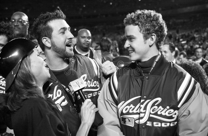 Joey Fatone et Justin Timberlake photo stock