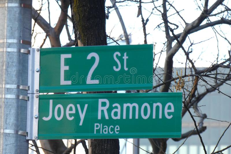 Joey Ramone Place lizenzfreies stockbild