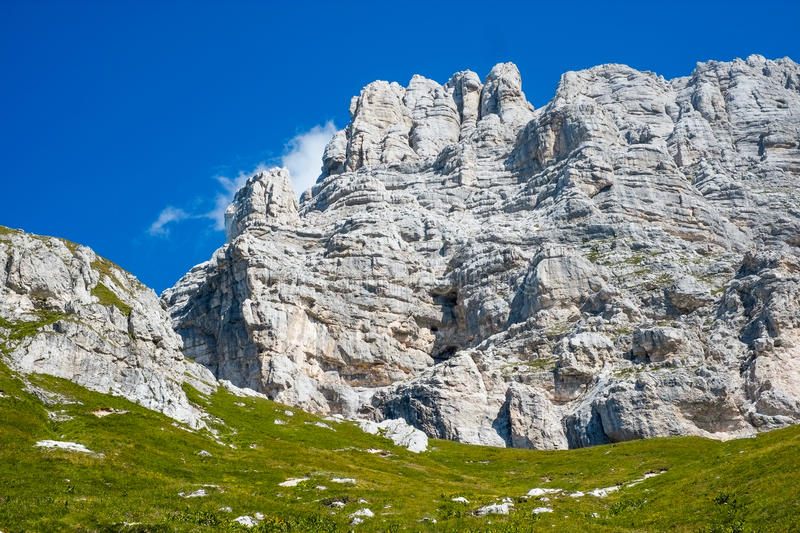 Jof di Montasio. Montain in Alpi Giulie, Friuli, Italy royalty free stock images