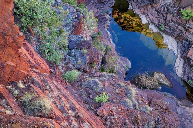 Joffre Gorge Karijini National Park stock foto