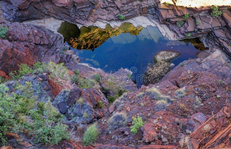 Joffre Gorge in Westelijk Australië stock afbeeldingen