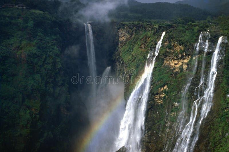 Jog Falls or Gerosoppa Falls in Karnataka state of India. Jog Falls is the 2nd highest waterfall in India located near Sagara taluk, Shimoga district in the royalty free stock photography