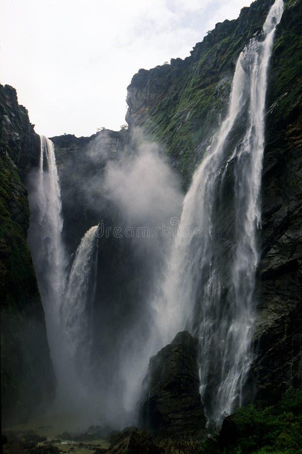 Jog Falls or Gerosoppa Falls in Karnataka state of India. Jog Falls is the 2nd highest waterfall in India located near Sagara taluk, Shimoga district in the stock image