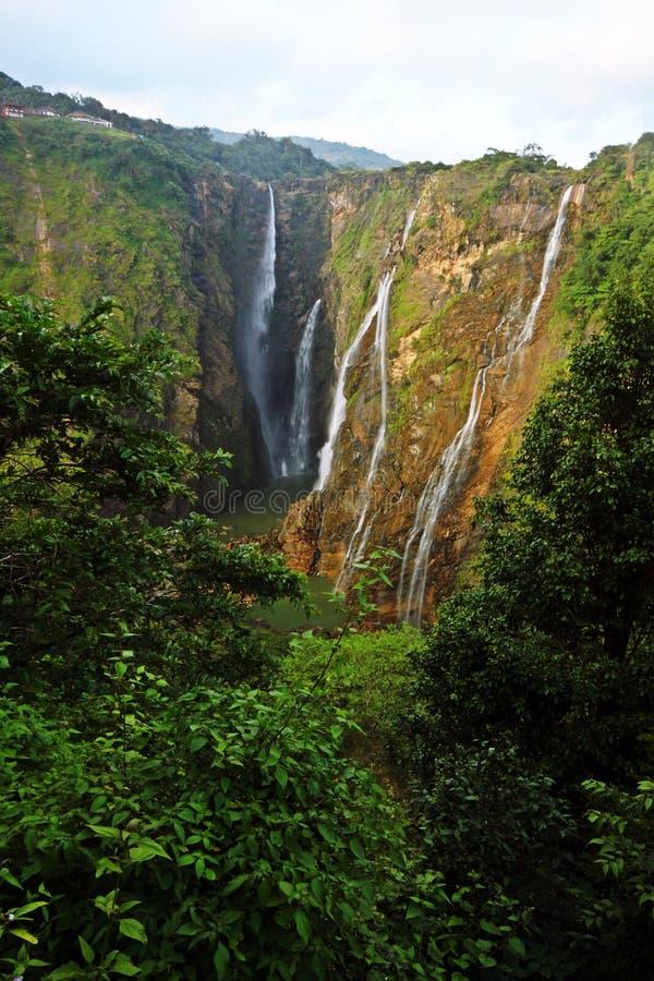 Jog falls, India's tallest water fall. Beautiful Jog falls, India's tallest water fall. Shot at Karnataka stock photography