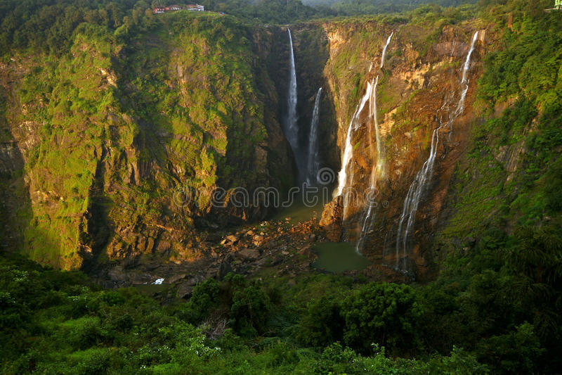 Jog falls, India's tallest water fall. Beautiful Jog falls, India's tallest water fall. Shot at Karnataka royalty free stock photos