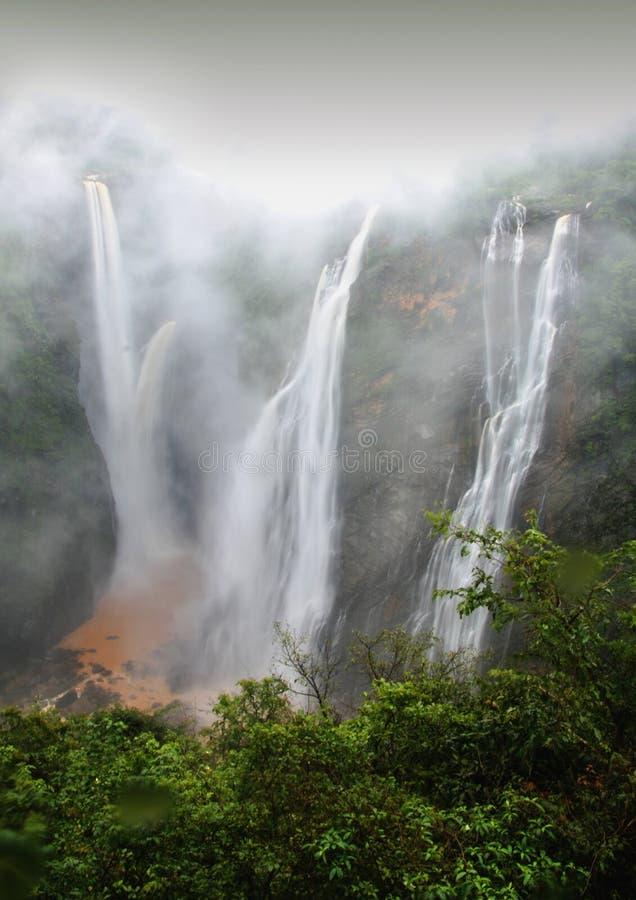 Jog Waterfall. Streams of beautiful Jog Waterfall , Shimoga , India royalty free stock images