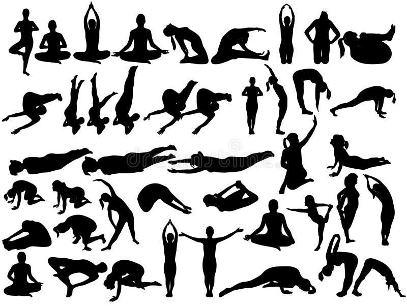 Download Joga ilustracja wektor. Obraz złożonej z napad, leisure - 8318243