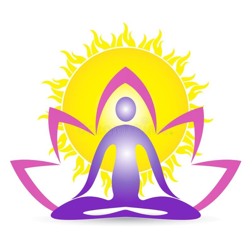 Joga dla zdrowego życie medytaci wellness royalty ilustracja