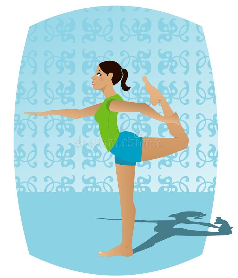 Download Joga dziewczyny ilustracji. Ilustracja złożonej z ćwiczenie - 145426