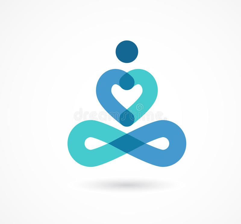 Joga ikona, element i symbol, ilustracja wektor