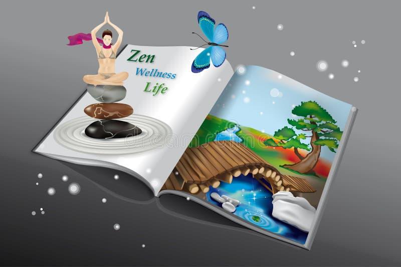 joga książkowy zen royalty ilustracja