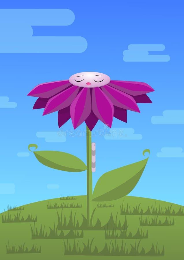 Joga kwiat royalty ilustracja