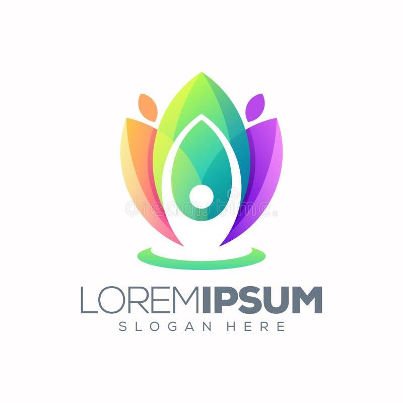 Joga logo lotosowy projekt gotowy u?ywa? ilustracji