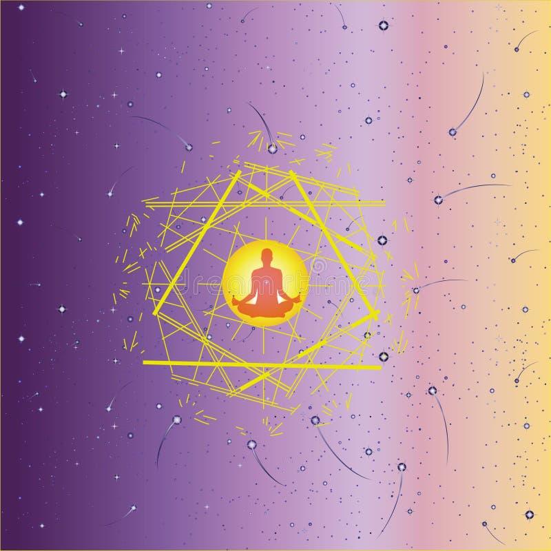 Joga medytacja ilustracji