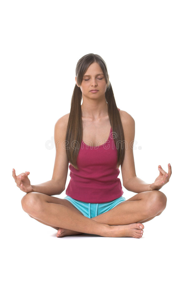 joga potomstwom stworzyć kobietę obraz stock