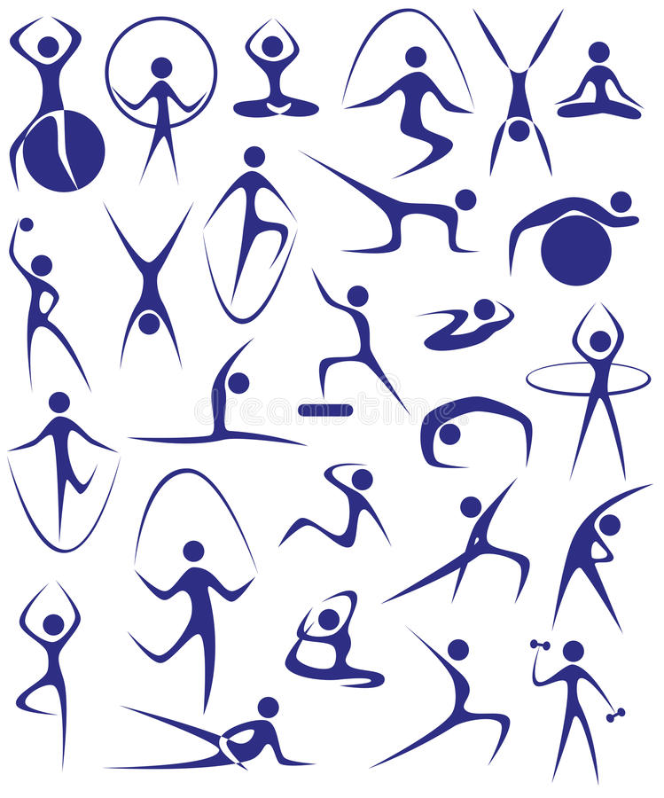 Joga, sprawność fizyczna royalty ilustracja
