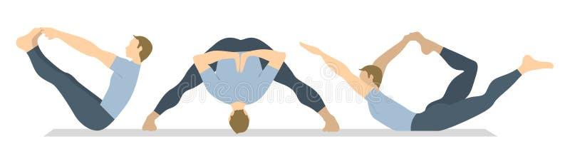 Joga treningu set royalty ilustracja