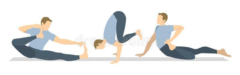 Joga treningu set ilustracji