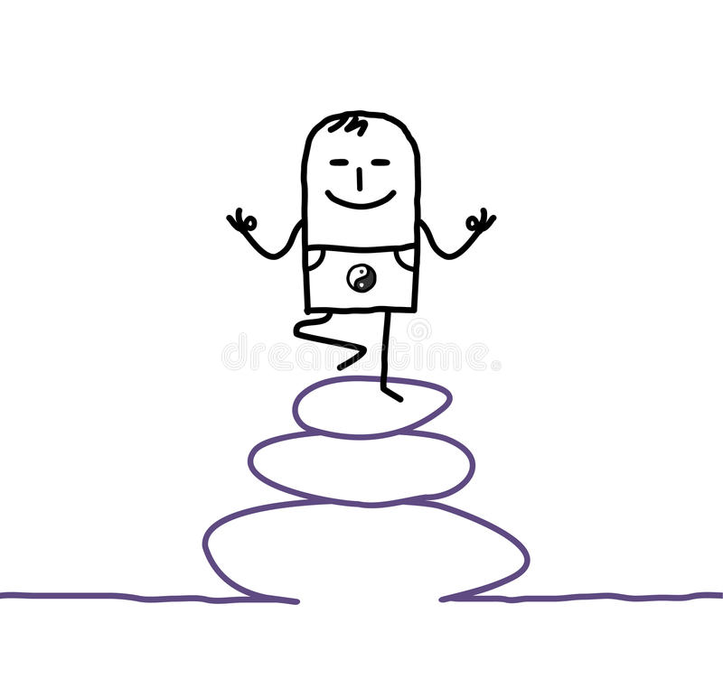 joga zen ilustracja wektor