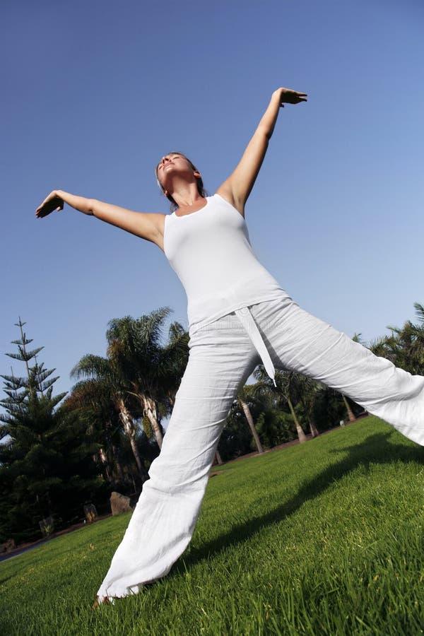 joga zewnętrznego zdjęcia royalty free