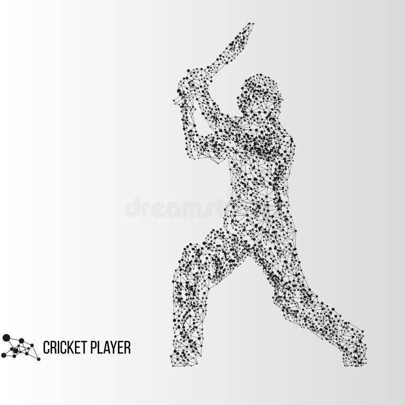 Jogador abstrato do grilo ilustração stock