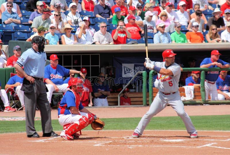 Jogador Albert Pujols dos cardeais de MLB St Louis fotos de stock