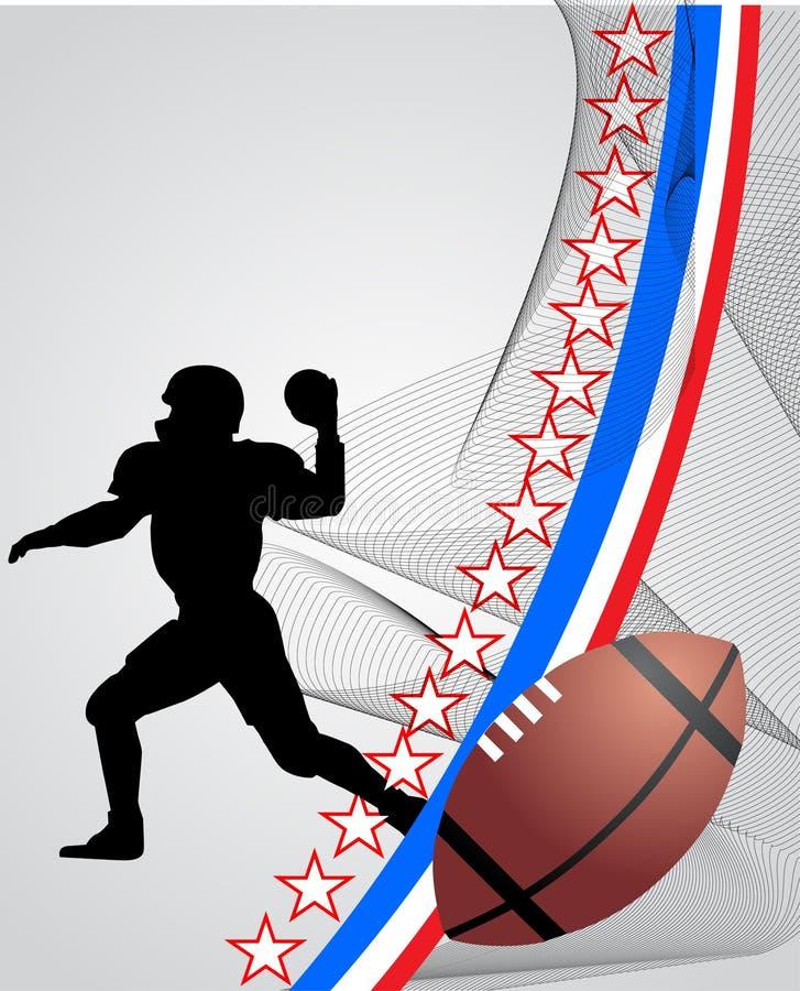 Jogador americano do foball ilustração royalty free