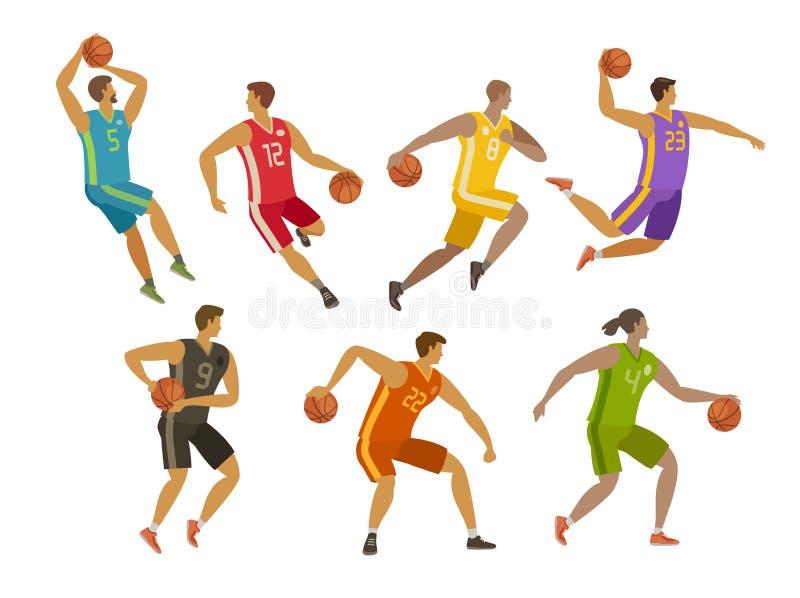 Jogador Andrea Bargnani e Marco Belinelli de NBA Conceito do esporte Ilustração do vetor dos desenhos animados ilustração do vetor