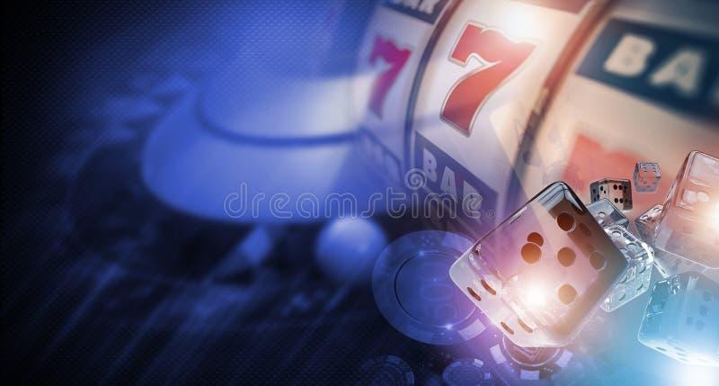 Jogador Banner do casino ilustração royalty free