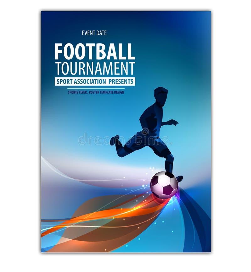 Jogador da ação do futebol do futebol Inseto abstrato da AR do cartaz ilustração royalty free