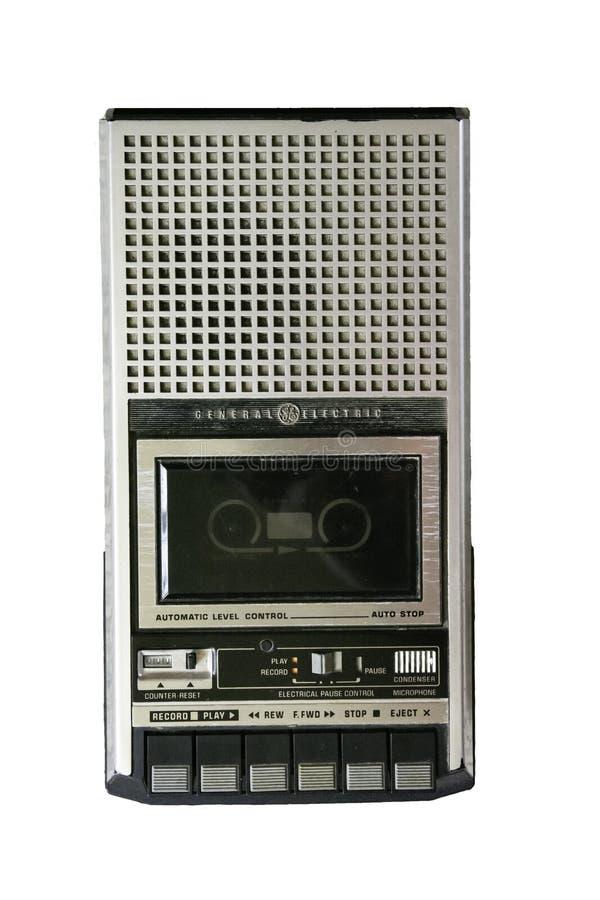 Jogador da cassete de banda magnética de GE isolado - vista aérea imagens de stock royalty free