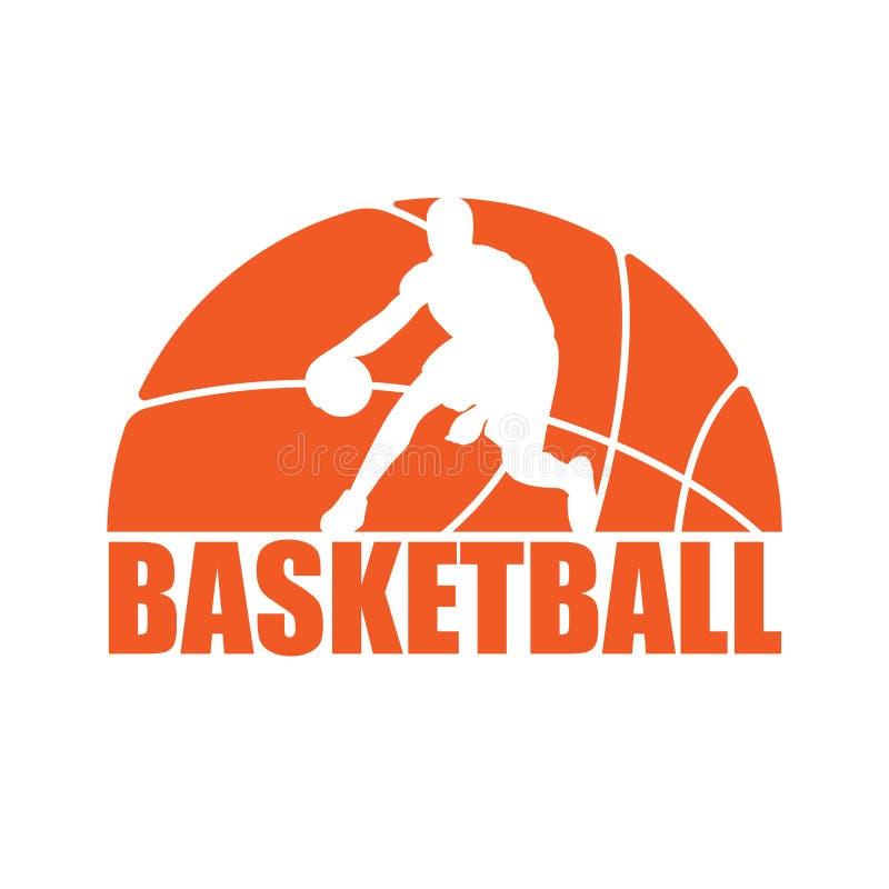 Jogador da silhueta do basquetebol ilustração stock