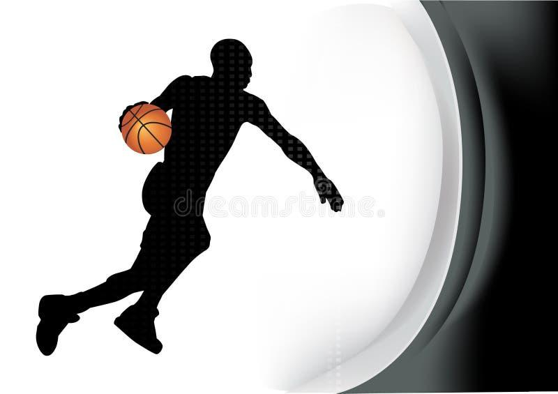 Jogador de basquetebol ilustração do vetor