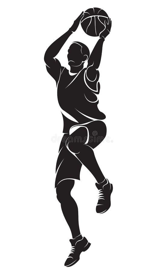 Jogador de basquetebol ilustração stock