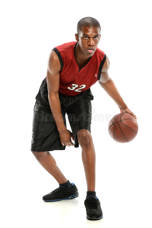 Jogador de basquetebol afro-americano fotografia de stock royalty free