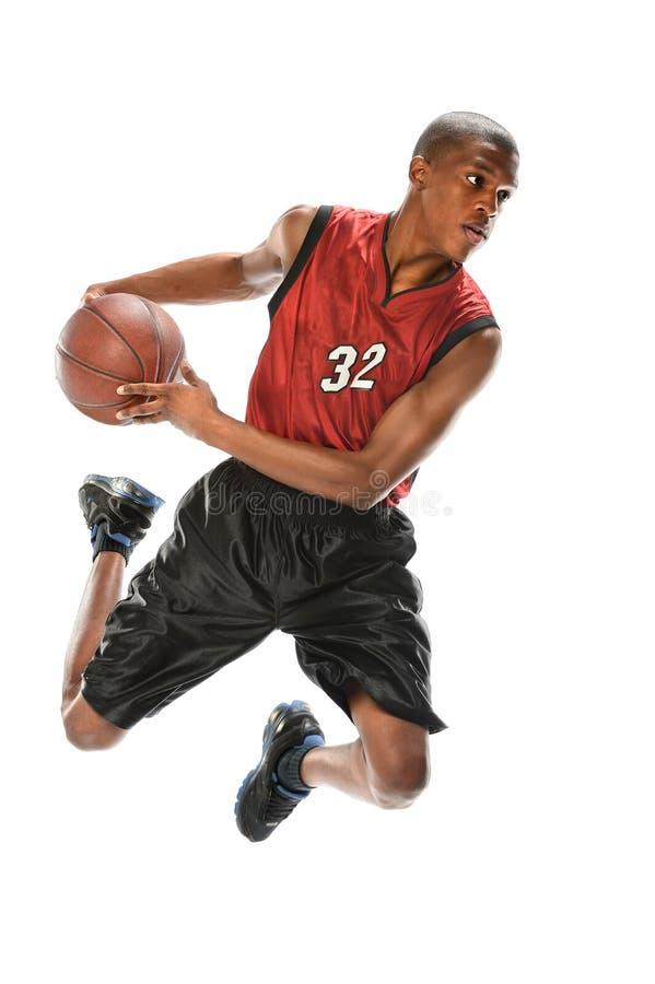 Jogador de basquetebol afro-americano imagens de stock royalty free