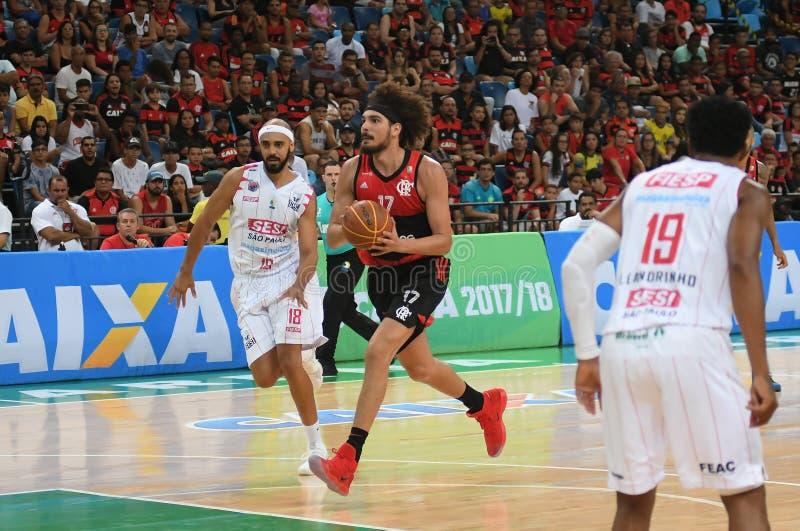 Jogador de basquetebol Anderson Varejão fotografia de stock