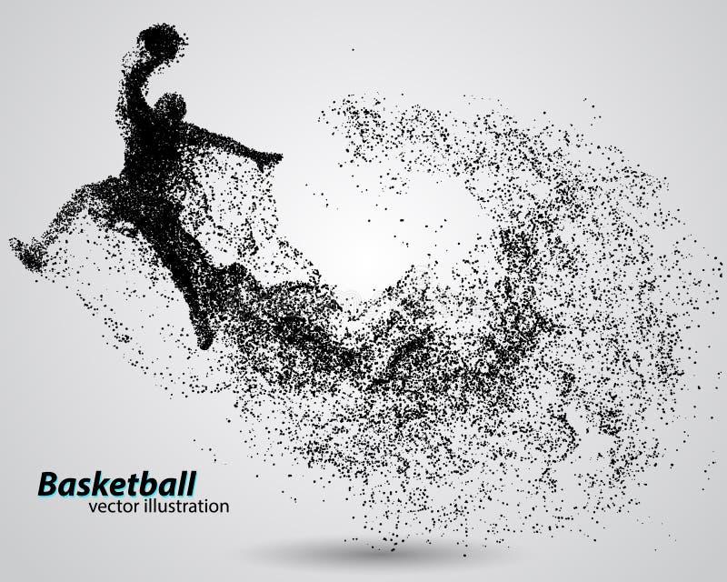 Jogador de basquetebol das partículas ilustração royalty free